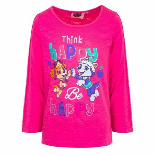 Paw Patrol Mädchen Langarmshirt Shirt Oberteil Gr rosa 98-116