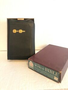World-Master-Art-Holy-Bible-KJV-King-James-Version-Genuine-Leather-in-Box-2846