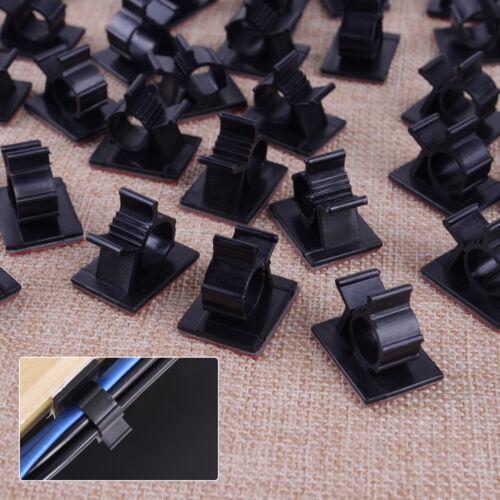 5Stk Kabelhalter Klebesockel Kabelclip Kabelklemme Selbstklebend Kabelbinder