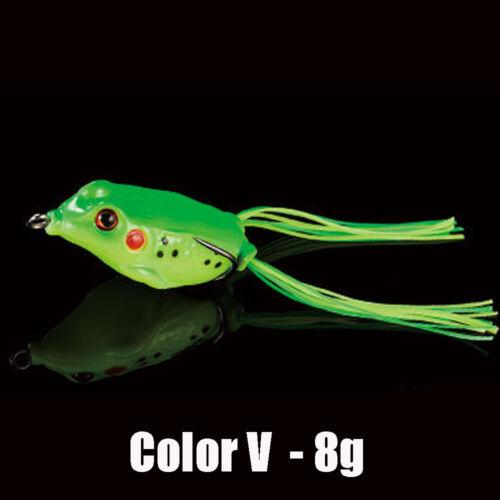 Lifelike Portable Spinner Sinking Soft Fishing Lures Bass Bait Rubber Frog