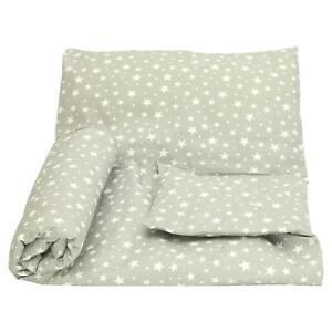 Cot Duvet Cover and Pillowcase Set 100 x 135 cm 100/% COTTON white little stars