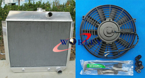 FAN for 1951-1954 52 53 CHEVY L6 Bel Air cars W//COOLER 3 ROW Aluminum Radiator