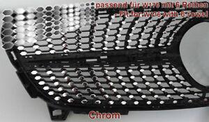 CHROM-Folien-fuer-Mercedes-W176-Facelift-Mopf-Urban-Diamantgrill-Kuehlergrill-AMG