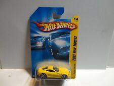 2007 Hot Wheels #14 Yellow Ferrari 599 GTB w/PR5 Spoke Wheels