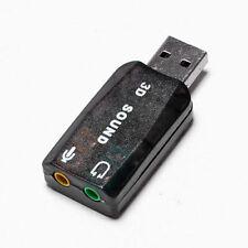 External USB 2.0 to 3D Virtual Audio Sound Card Adapter Converter 5.1 Channels