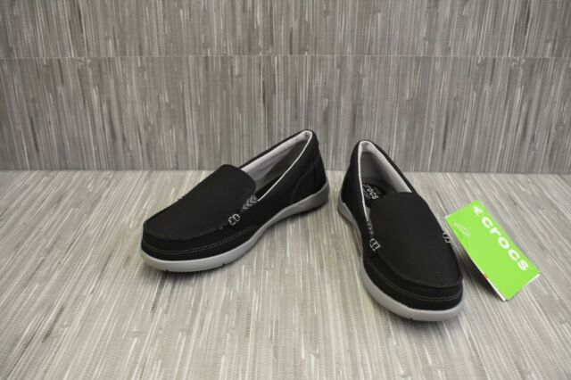 Crocs Walu Shimmer Damen US 6 schwarz