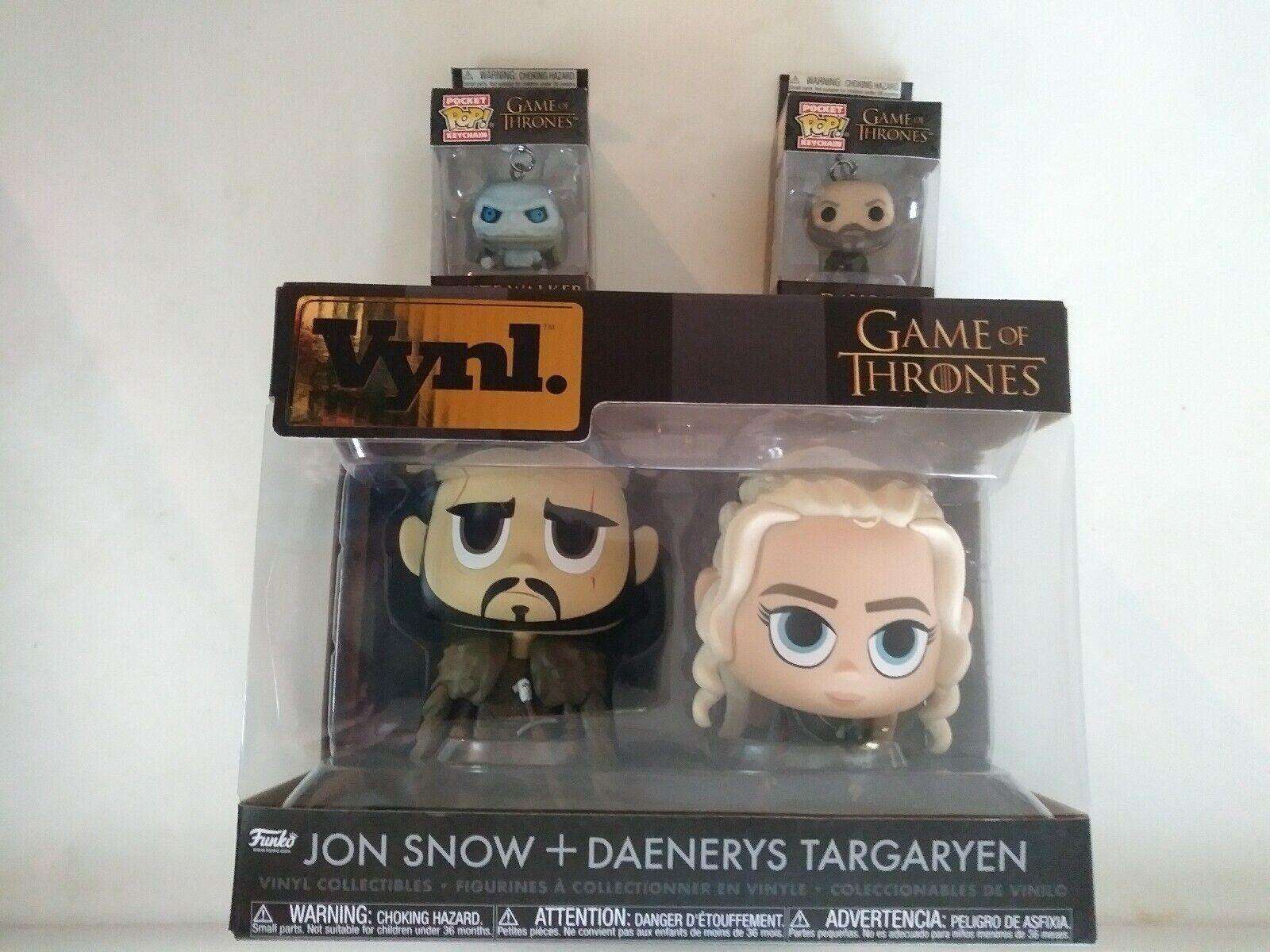 Game of Thrones action figure lot 4 total JON SNOW DT+DAVOS+W.WALKER funko VYNL.