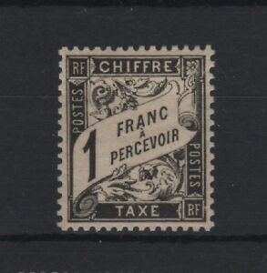 FRANCE-STAMP-TIMBRE-TAXE-YVERT-N-22-034-TYPE-DUVAL-1F-NOIR-034-NEUF-xx-LUXE-T477