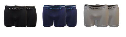 3 opzioni di colore Farah Uomo 2 Pacchi Intimo Seamless in TAGLIA SMALL A XL
