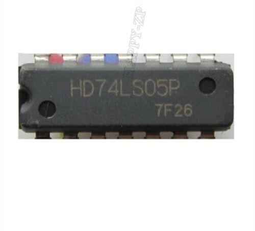 5Pcs 74LS05P 7405 74HC05 Hex Inverseur DIP-14 ap