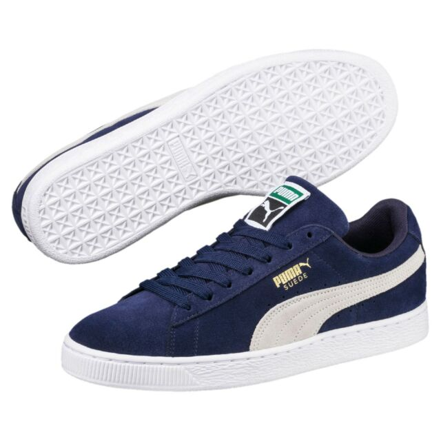 dacf2f598a6 Puma Men's SUEDE CLASSIC+ Shoes NEW AUTHENTIC Navy Peacoat-White 356568 51