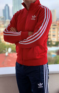 Classical-Adidas-tracking-suit-vintage-old-school-retro-RED-tracksuit-with-pants