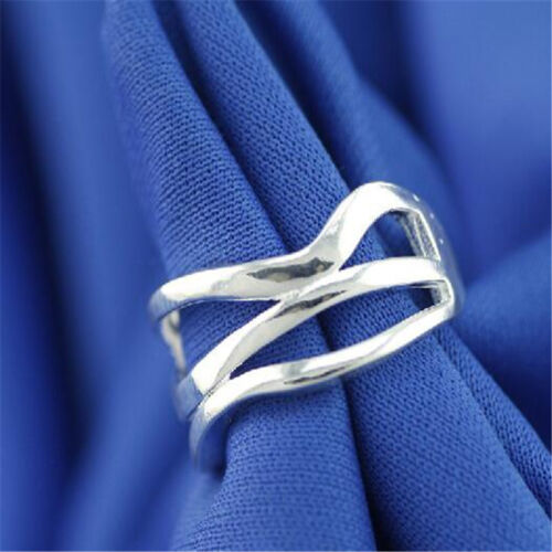 925 Solid Sterling Silver Plated Women//Men NEW Fashion Ring Gift SIZE OPEN HJ205