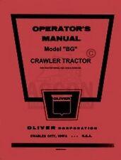 Oliver Bg Crawler Tractor Operators Instruction Manual