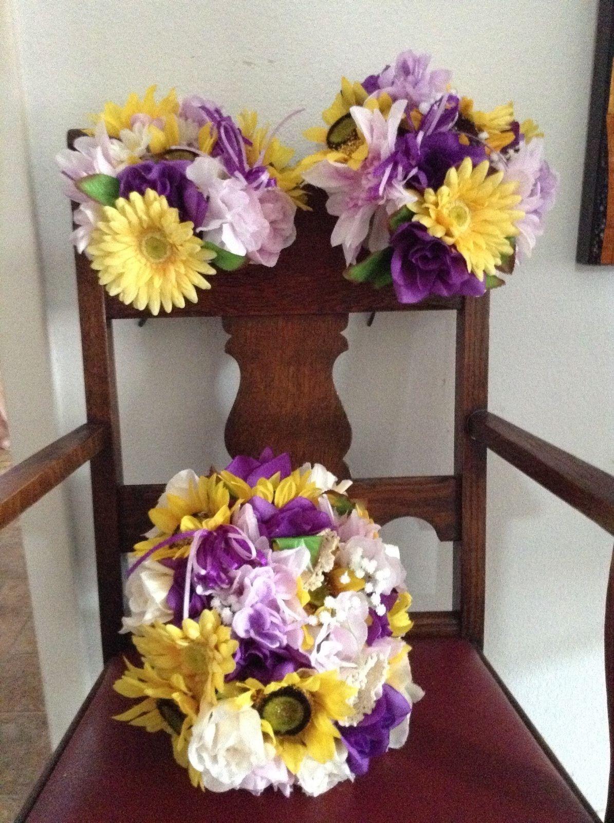 Mariage Fleurs Mariage bouquets décoration TOURNESOLS Lavender violet énorme