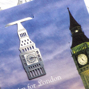 Mini-Metal-Bookmark-clip-England-London-Travel-Thames-Tower-Bridge-Steel-Index