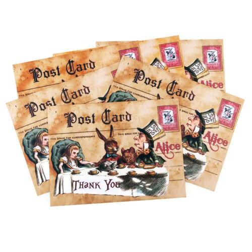 NEW Thank You Alice in Wonderland Vintage Note Cards Set of 6 with Envelopes