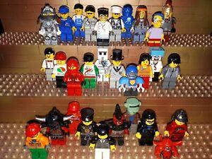 30-LEGO-CITY-personnages-avec-de-chapeau-Minifig-Town-police-ouvriers-c7