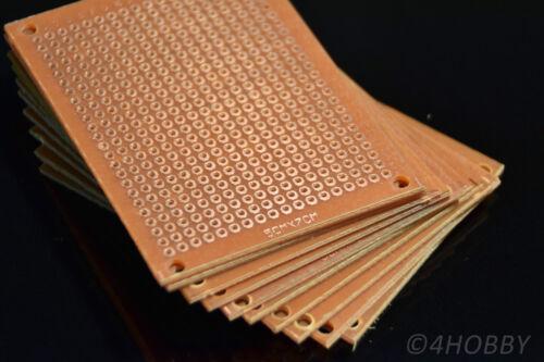 10x Hole Grid Board 5x7cm Hole Grid Board lötplatine PCB Prototype