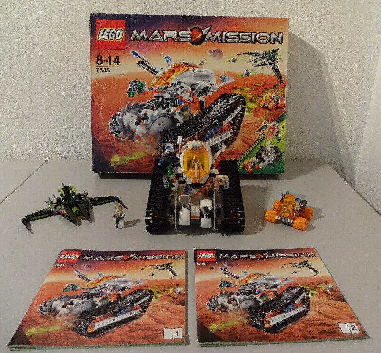 (TB) LEGO 7645 MARS MISSION CRYSTAL REAPER MT-61 MIT OVP & BA 100% KOMPLETT RAR