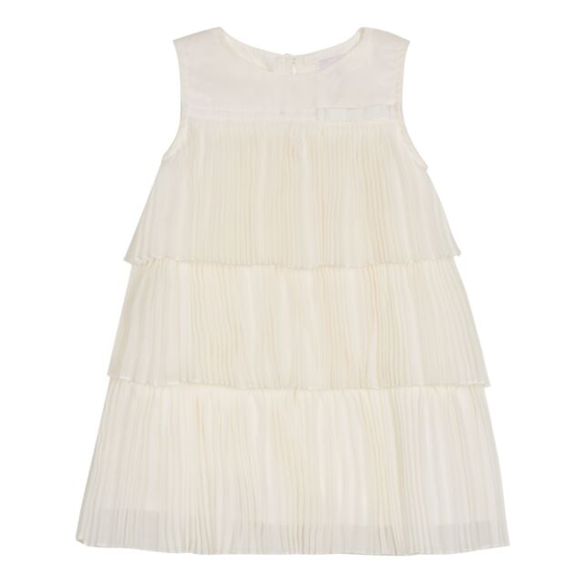 c82958e3c Ted Baker Dress Pleated Baby Girl Layered Chiffon Summer Designer 3-6 Months