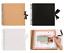 8-034-Square-Scrapbook-Spiral-Bound-Ribbon-Tie-Photo-Album-Display-Guest-Book-Craft thumbnail 1