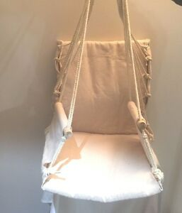 Prime Garden Hanging Rope Chair Cotton Padded Swing Chair Hammock