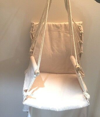 Prime Garden Hanging Rope Chair Cotton Padded Swing Chair Hammock Seat Ebay