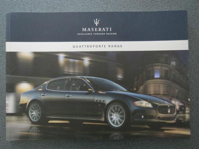 Maserati Quattroporte / S / Sports GT-S  Brochure - Catalog  2010