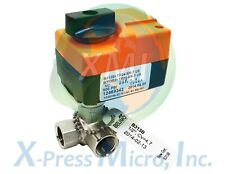 New Belimo B313btr24 Sr T Us 12 3 Way Brass Ball Valve With Actuator