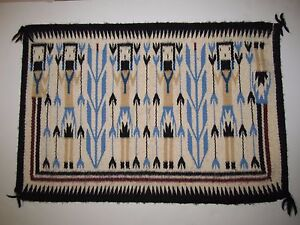 Details About Navajo Rug Yei Style 15 Inches X 22 Handmade In Arizona 57
