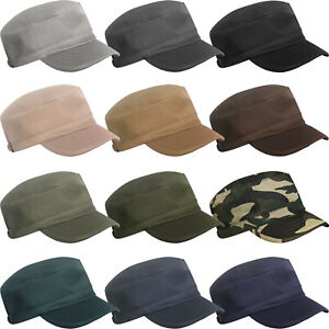 Mens Womens Classic Cadet Army Military Flat Hat Baker Boy Hat Baseball Sun Cap