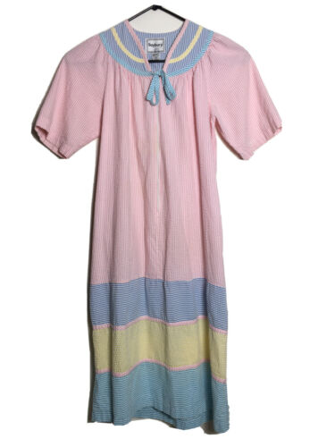 Saybury Womens House Dress Robe Seersucker Nightgo