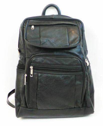 B.New. Men Women Leather Backpack Satchel Rucksack Shoulder Fashion School Bag