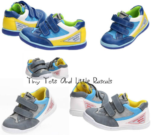 Boys Toddlers Spring Autumn Shoes Leather Insole Trainers Pumps  Sizes UK 4.5-8
