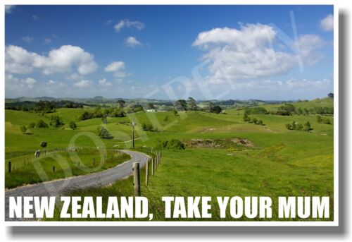 NEW World Travel POSTER New Zealand Take Your Mum