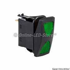 OLS 14V DC 20A 4-Pin Green LED ON-OFF-ON SPDT Rocker Switch (3 Position)