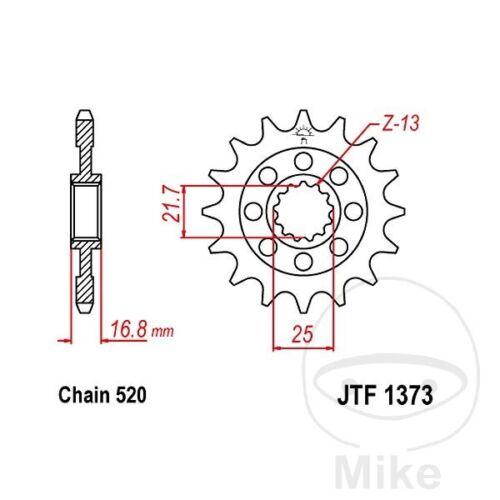 Division 520 jtf1373.15 JT Moto Racing-Pignon 15 dents