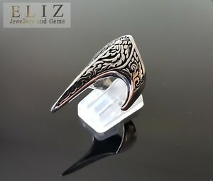 STERLING SILVER RING CLAW GOTHIC BIKER 925 SOLID NEW