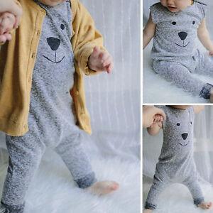 baby kinder junge m dchen sommer overall strampler. Black Bedroom Furniture Sets. Home Design Ideas