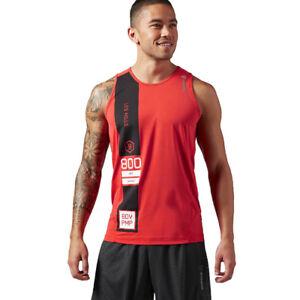 a888ddc062064 Reebok Les Mills Mens Tank Top Training Gym Wicking Sleeveless Shirt ...