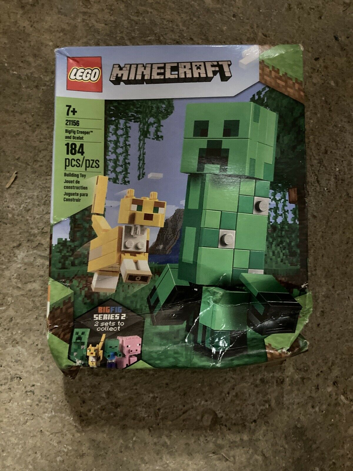 LEGO Minecraft 21156 BigFig Creeper and Ocelot NEW Free Shipping