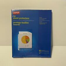Clear Sheet Protectors 24 Mil Top Loading 50 Count Letter Size New Sealed