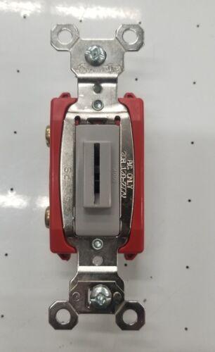 PS20AC1L Heavy-duty Keyed Switch 20a Gray Single Pole Toggle Pass /& Seymour