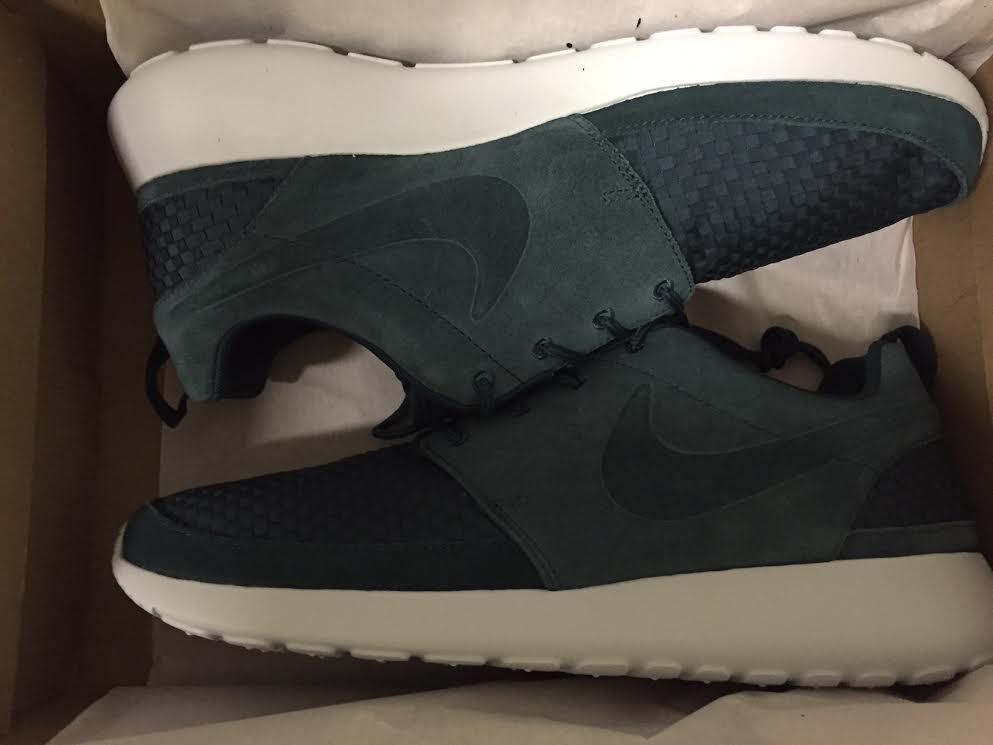 Nike Roshe Run FB White WOVEN DARK ATOMIC TEAL FIBERGLASS 10 flyknit Rare Air