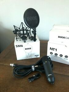Rode NT1-KIT Large-Diaphragm Cardioid Condenser Microphone with SM6 Shock Mount