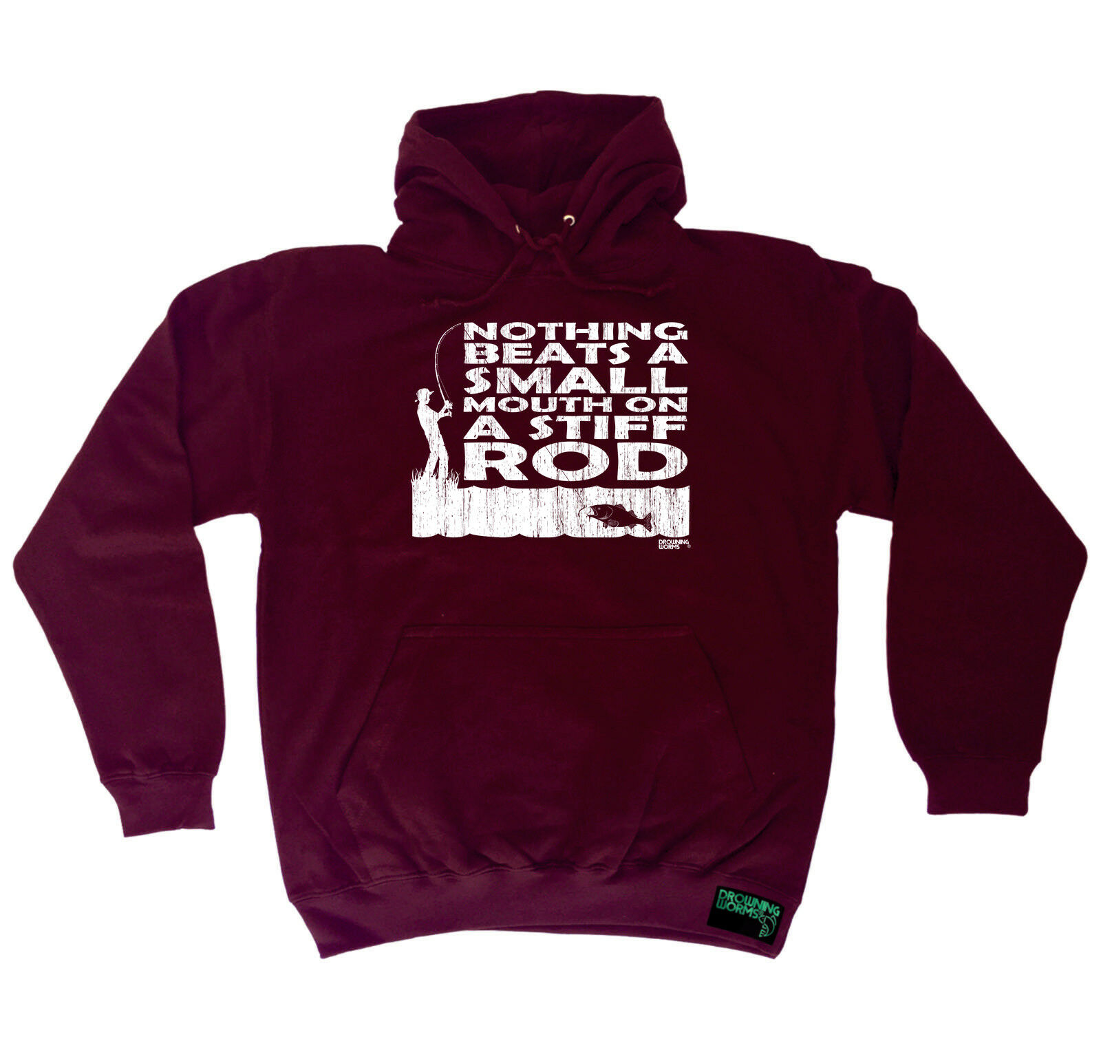 Fishing Hoodie Hoody Funny Novelty hooded Top - Nothing Beats A Small Mouth Stif