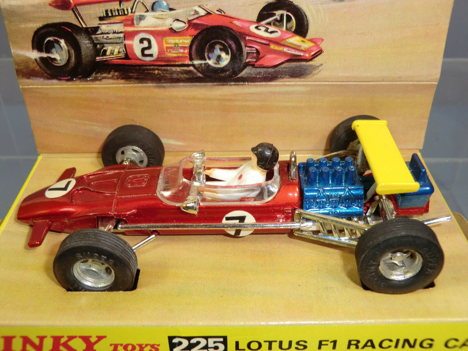 VINTAGE VINTAGE VINTAGE DINKY TOYS MODEL No.225   LOTUS FI RACING CAR      VN MIB 057255
