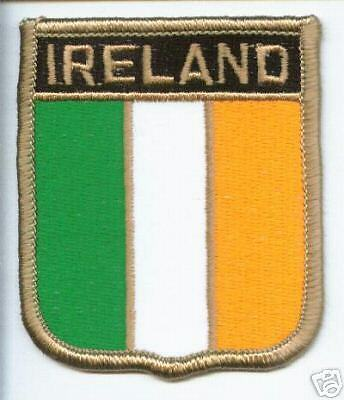 IRELAND TRICOLOUR FLAG WORLD EMBROIDERED PATCH BADGE
