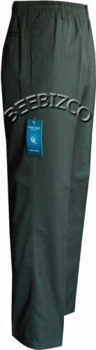 """W60/"""" New Mens Fully Elasticated Waist Smart Casual Rugby Trousers W32/"""""""